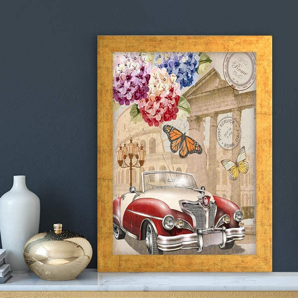 AC11115870595 Multicolor Decorative Framed MDF Painting
