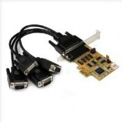 StarTech 4 Port PCI Express (PCIe) RS232 Serial Card with Power Output and ESD Protection