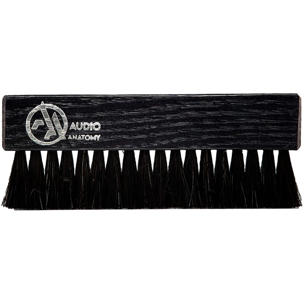 Oak Wood Brush Black With Antistatic Goat And Nylon Fiber - Deluxe (Dry & Wet Cleaning)