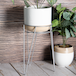 Metal Flower Pot Stand Silver | M&W - Image 4