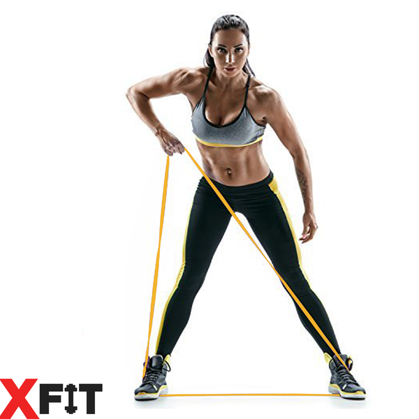 Resistance Loop Bands Crossfit Exercise Strength Weight Training XFit 2 Pack (Medium & Heavy) - Image 4
