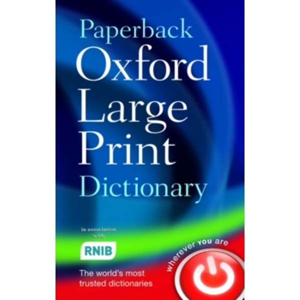 Paperback Oxford Large Print Dictionary by Oxford Dictionaries (Paperback, 2007)
