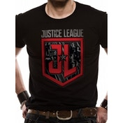 Justice League Movie - Shield Characters Men's Large T-Shirt - Black
