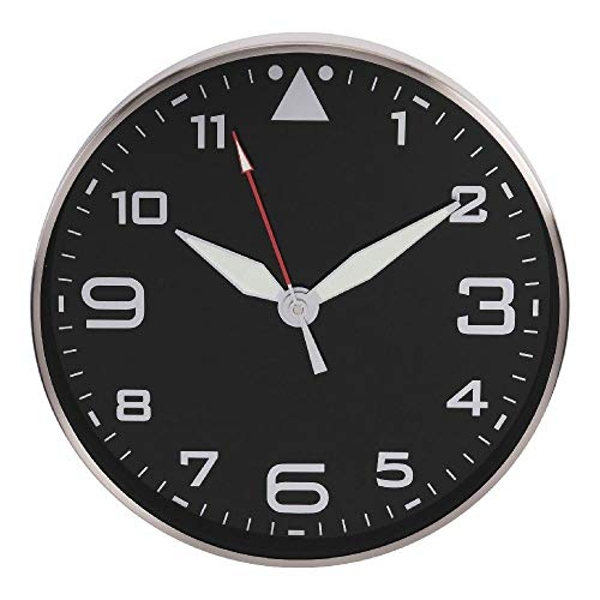 Hometime Metal Wall Clock with Black Dial and Luminous Hands