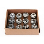 Small Rustic Black and White Doorknobs