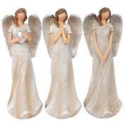 Trio of Small Glitter Angels