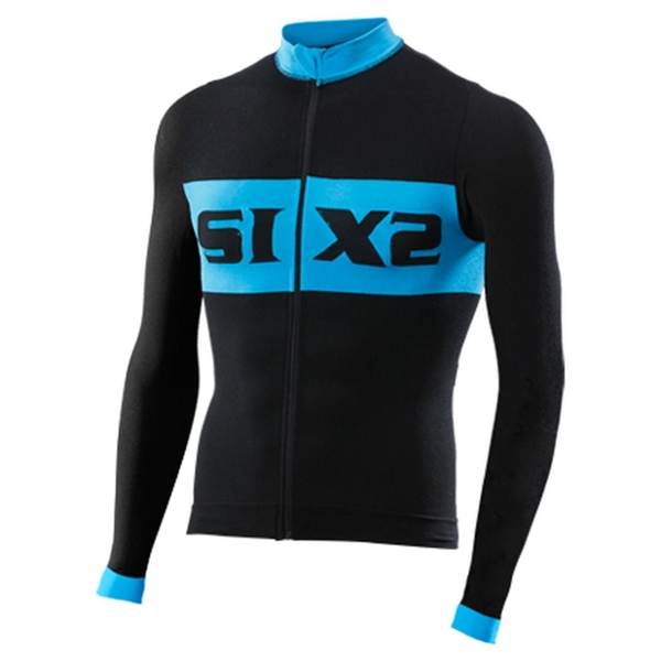 SIXS Bike 4 Luxury Long Sleeve Jersey Black/Blue Small