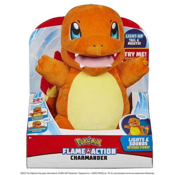 Pokemon Flame Action Charmander Plush