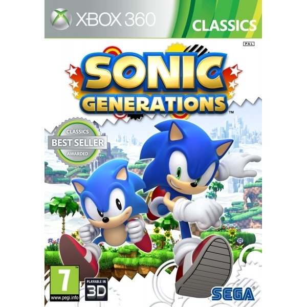 Sonic Generations Game (Classics) Xbox 360 - Image 1