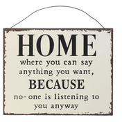 Home Metal Sign