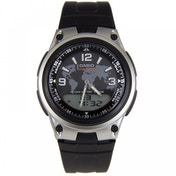 Casio Mens Quartz Watch with Digital & Analogue Display and Black Resin Strap