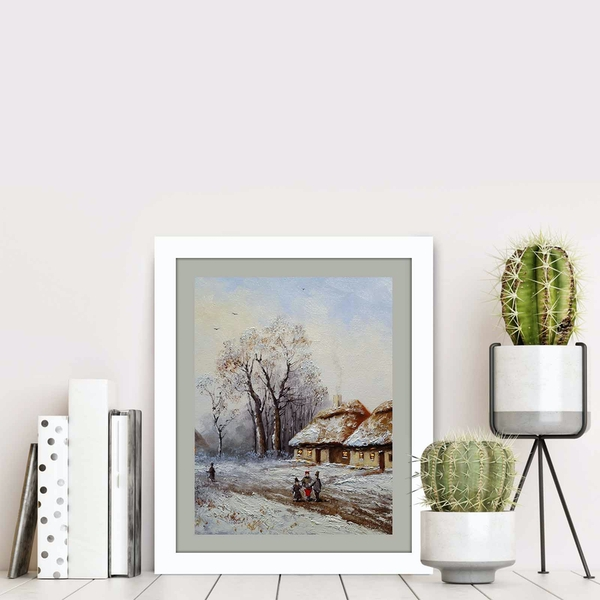 BCT-001 Multicolor Decorative Framed MDF Painting