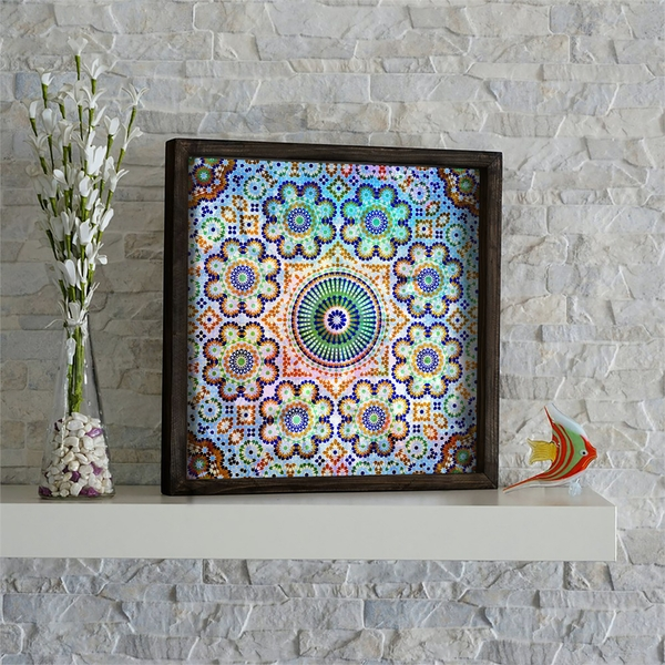 KZM524 Multicolor Decorative Framed MDF Painting