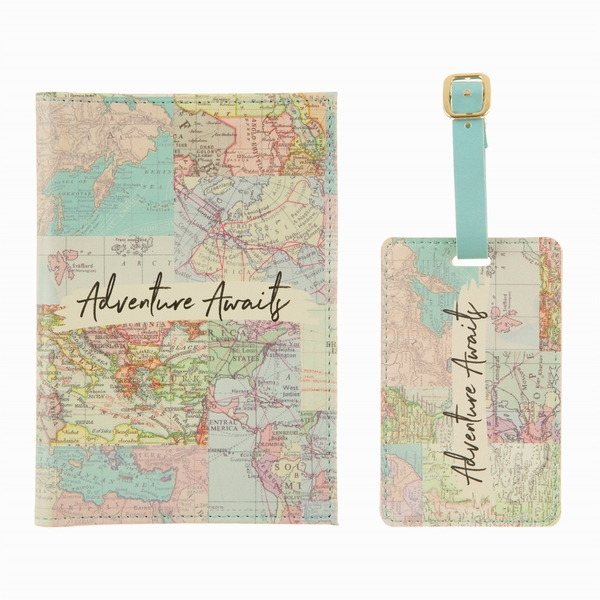 Sass & Belle Vintage Map Collage Travel Set