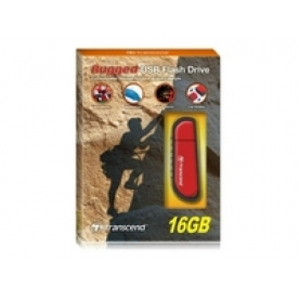 Transcend JetFlash V70 16GB Rugged USB Flash Drive (Red) TS16GJFV70