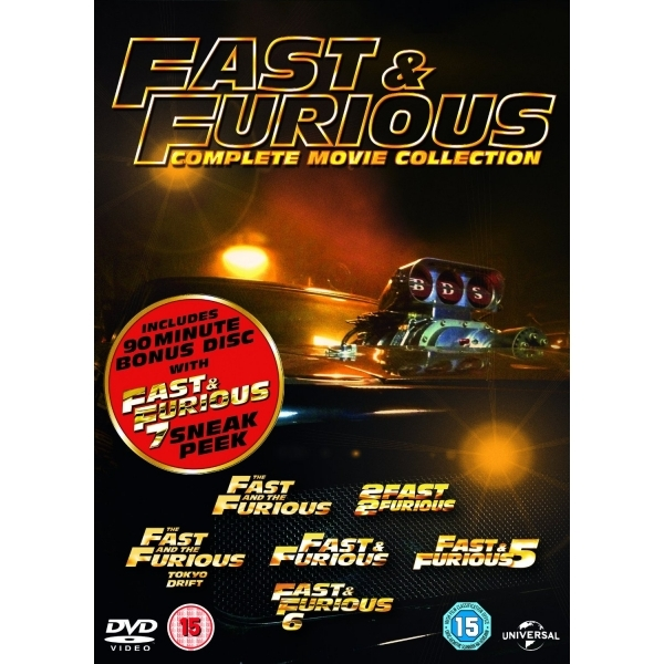 Fast & Furious 1-6 (With Sneak Peek) DVD