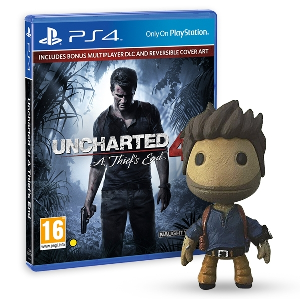cb8b75d5f30 Uncharted 4 A Thief s End Launch Edition PS4 Game + Drake Sackboy ...