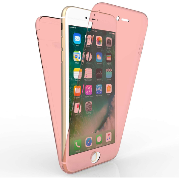 Compare prices with Phone Retailers Comaprison to buy a Apple iPhone 7 Plus Full Body 360 TPU Gel Case - Rose Gold