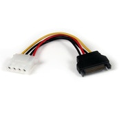 6in SATA to LP4 Power Cable Adapter - F/M