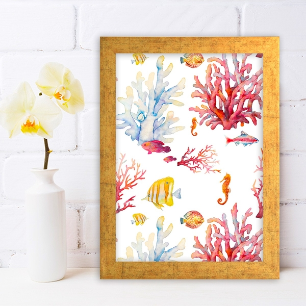 AC600576809 Multicolor Decorative Framed MDF Painting