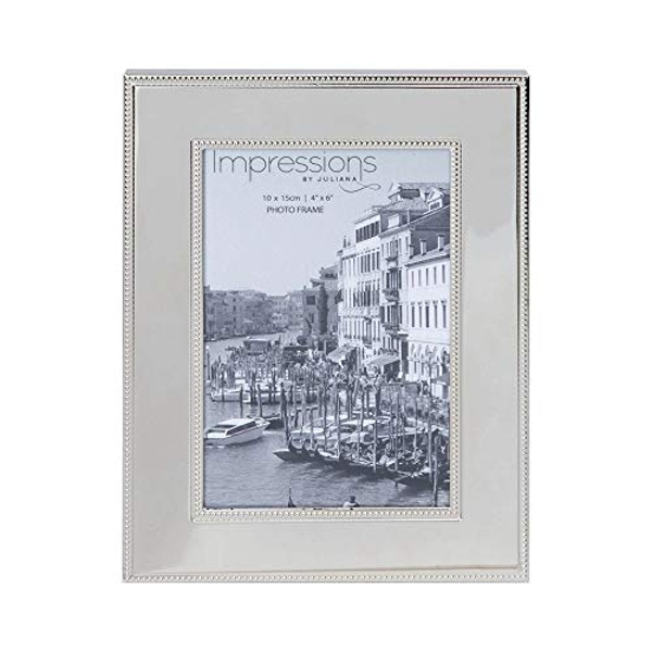 """4"""" x 6"""" - Impressions Nickel Plated Steel Photo Frame"""