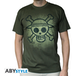 One Piece - Skull With Map Used Men's Small T-Shirt - Green - Image 2