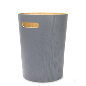 Wooden Waste Paper Bin | M&W Grey
