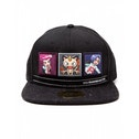 Pokemon Team Rocket Snapback Baseball Cap - Dark Grey/Black