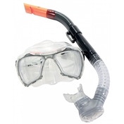 Divetech Nevis Mask & Snorkel Black and Silver