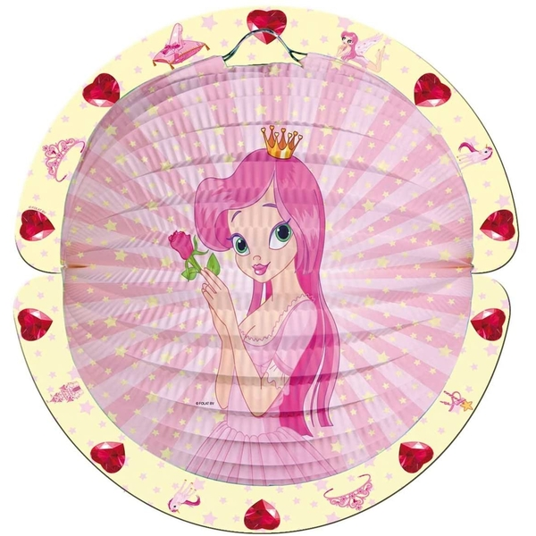 Party Paper Lantern Princess design decorated