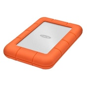 LaCie Rugged Mini, 2TB 2000GB Aluminium,Orange external hard drive