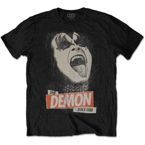 KISS - The Demon Rock Unisex Medium T-Shirt - Black