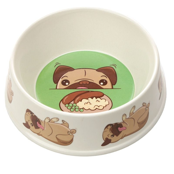 Small Mopps Pug Bamboo Composite Pet Bowl
