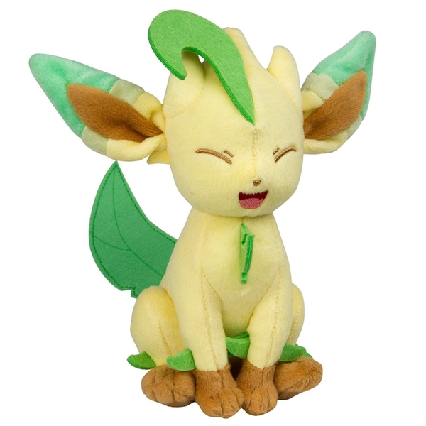 00cfd282 Pokemon Eevee Evolution Leafeon 8 inch Collectable Plush Toy - Image 2