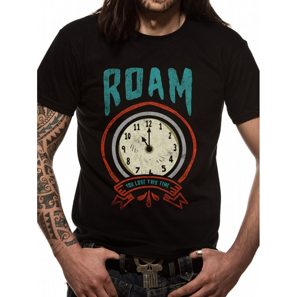 Roam - Time Men's Small T-Shirt - Black