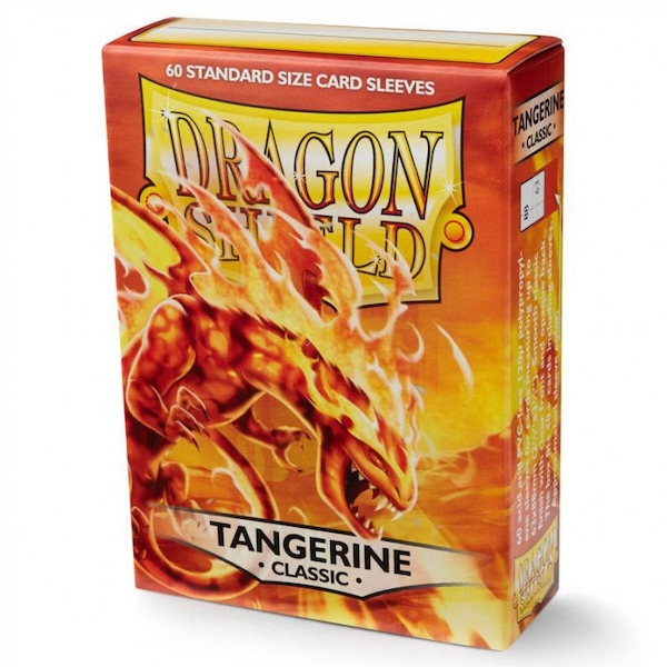 Dragon Shield Classic - Tangerine 60 Sleeves In Box - 10 Packs