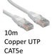 RJ45 (M) to RJ45 (M) CAT5e 10m White OEM Moulded Boot Copper UTP Network Cable - Image 2