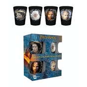 Lord of the Rings Characters Coloured Glass Shot Glasses
