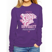 Supergirl - Metropolis University Women's X-Large Sweatshirt - Purple