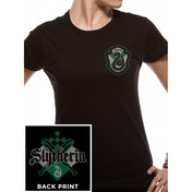 Harry Potter - House Slytherin Ladies Small T-Shirt - Black