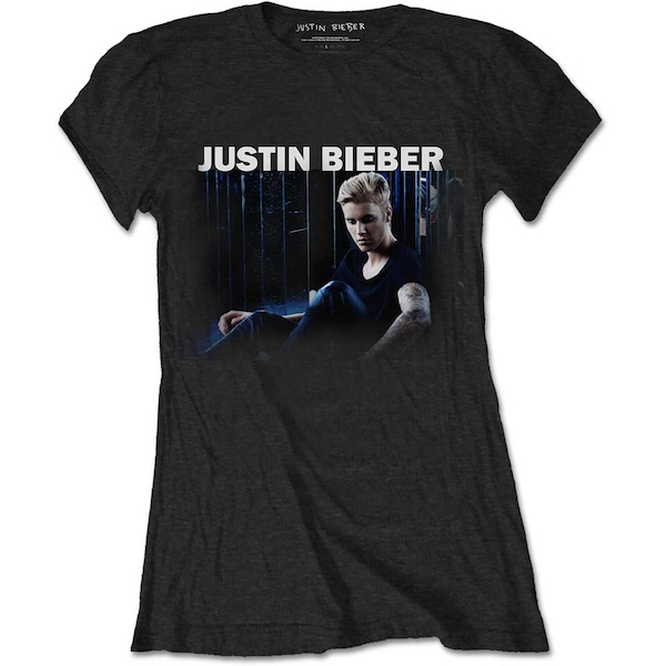 Justin Bieber - Mirror Women's Large T-Shirt - Black