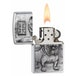 Zippo Bulldog Emblem Brushed Chrome Windproof Lighter - Image 2