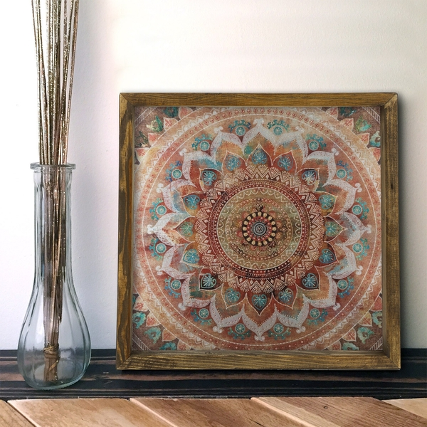 MZM249 Multicolor Decorative Framed MDF Painting