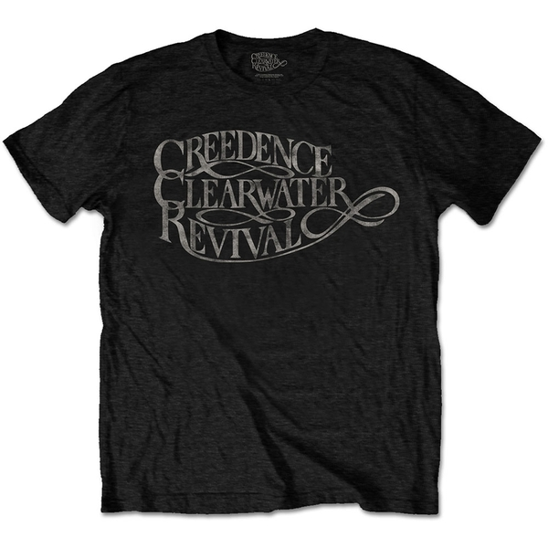 Creedence Clearwater Revival - Vintage Logo Unisex X-Large T-Shirt - Black