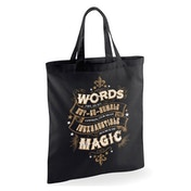 Harry Potter - Words Of Magic Bag - Black
