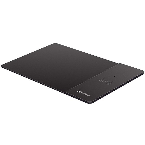 Sandberg (441-12) Mouse Pad with Qi Wireless Charging Area, Supports Fast Charge, 5 Year Warranty