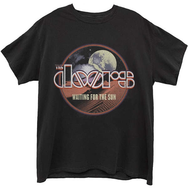 Doors - The - Waiting For The Sun Unisex Small T-Shirt - Black