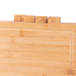 Bamboo Chopping Boards with Index Tabs - Set of 4 | M&W - Image 5