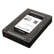 2.5  to 3.5  SATA Aluminum Hard Drive Adapter Enclosure with SSD / HDD Height up to 12.5mm