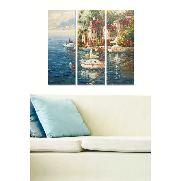 MDFDSCF7606 Multicolor Decorative MDF Painting (3 Pieces)